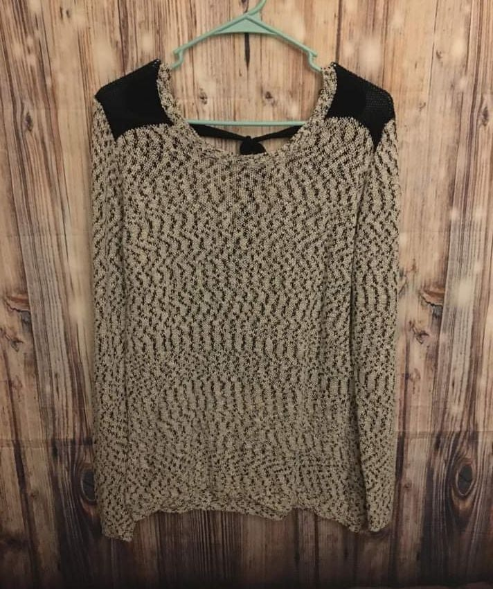 Tie-Back Sweater, XL
