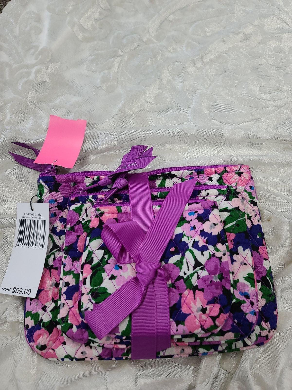 Vera Bradley flower garden 3pc pouch