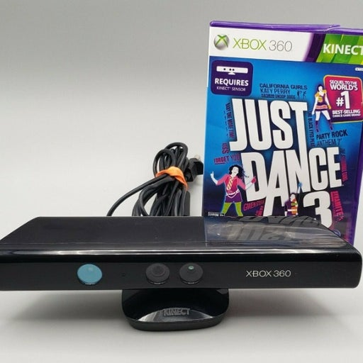 Genuine Microsoft XBOX 360 Kinect Sensor Bar Model 1414 w/ Just Dance 3!