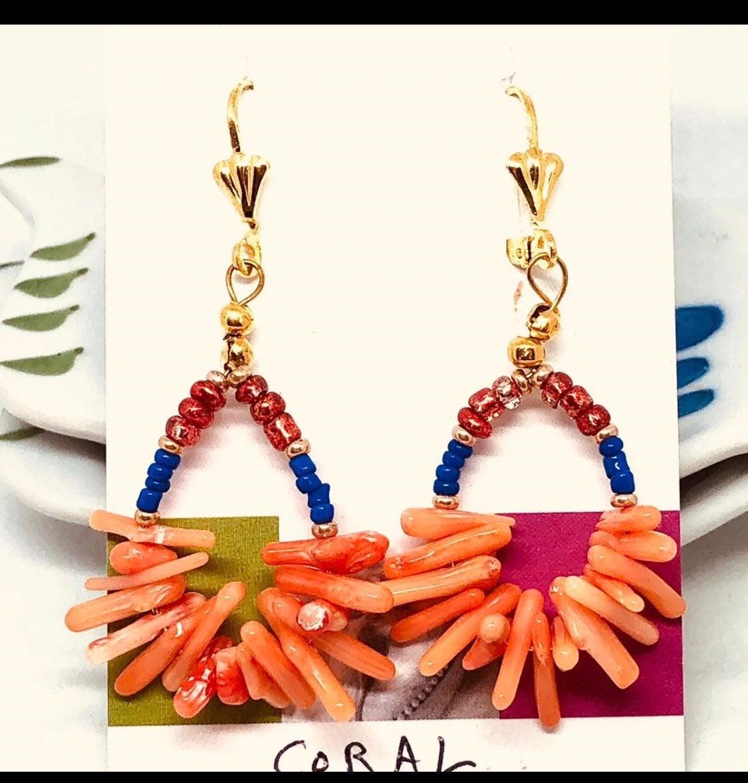 Coral Earrings - new