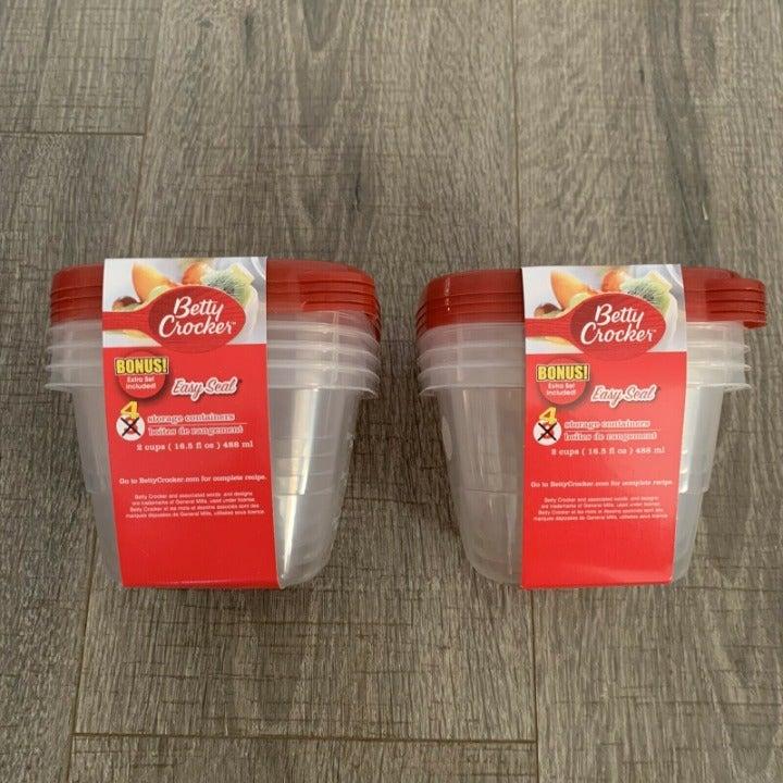 Betty Crocker Easy Seal 2 Cup Storage