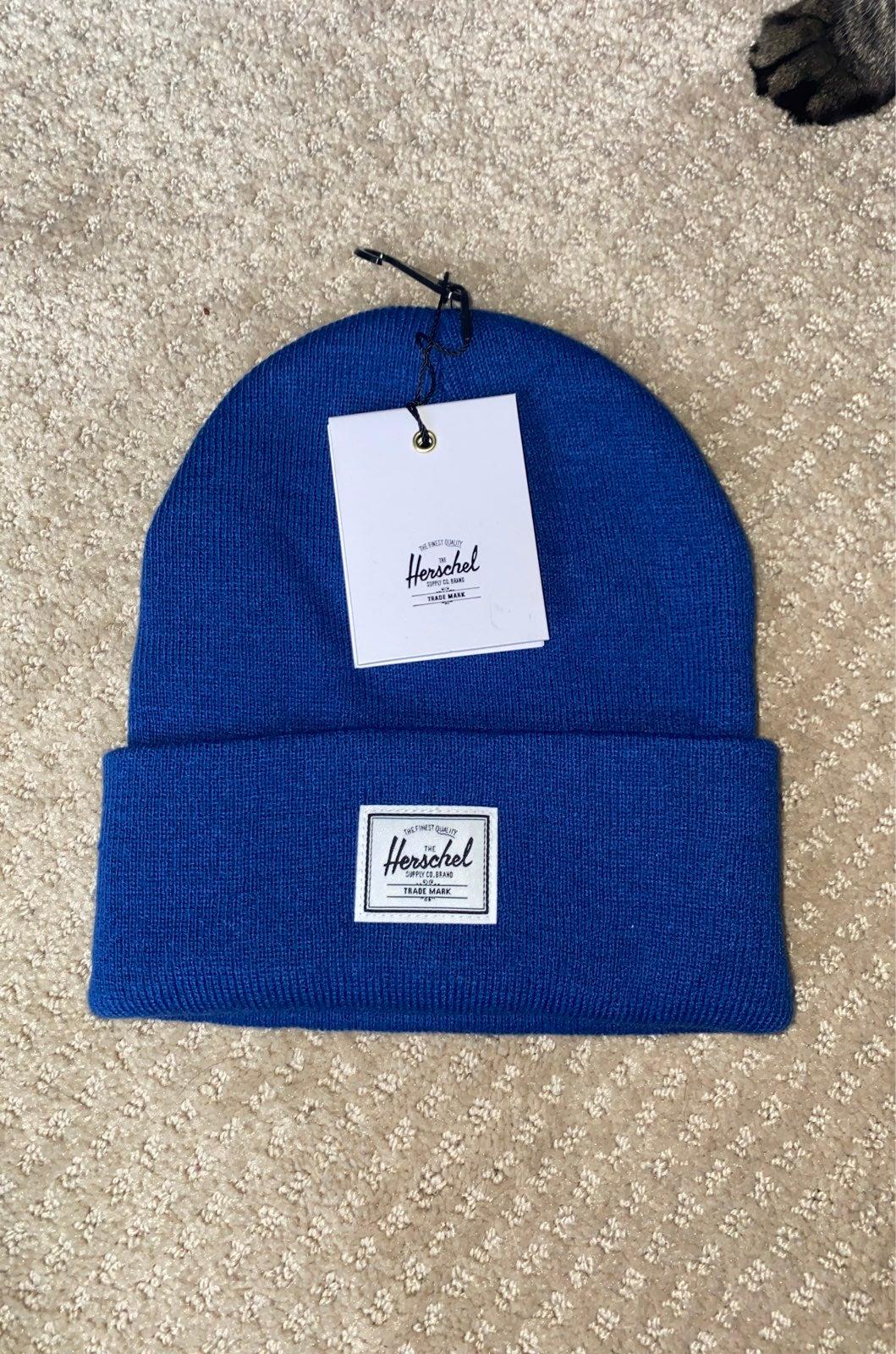 NWT Herschel Supply Co blue beanie