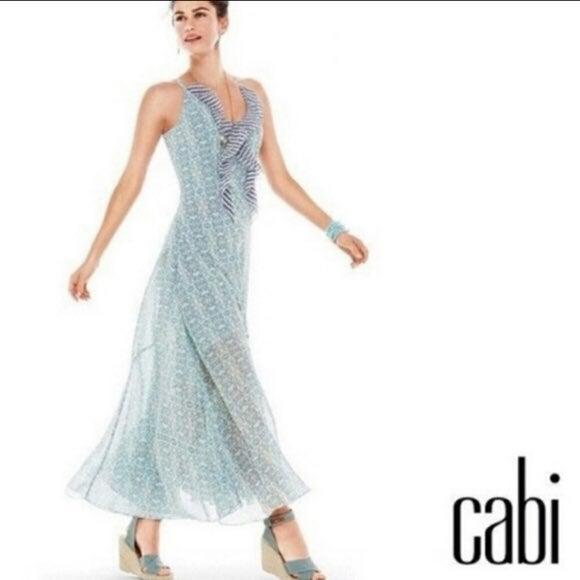 Cabi garden party printed maxi dress