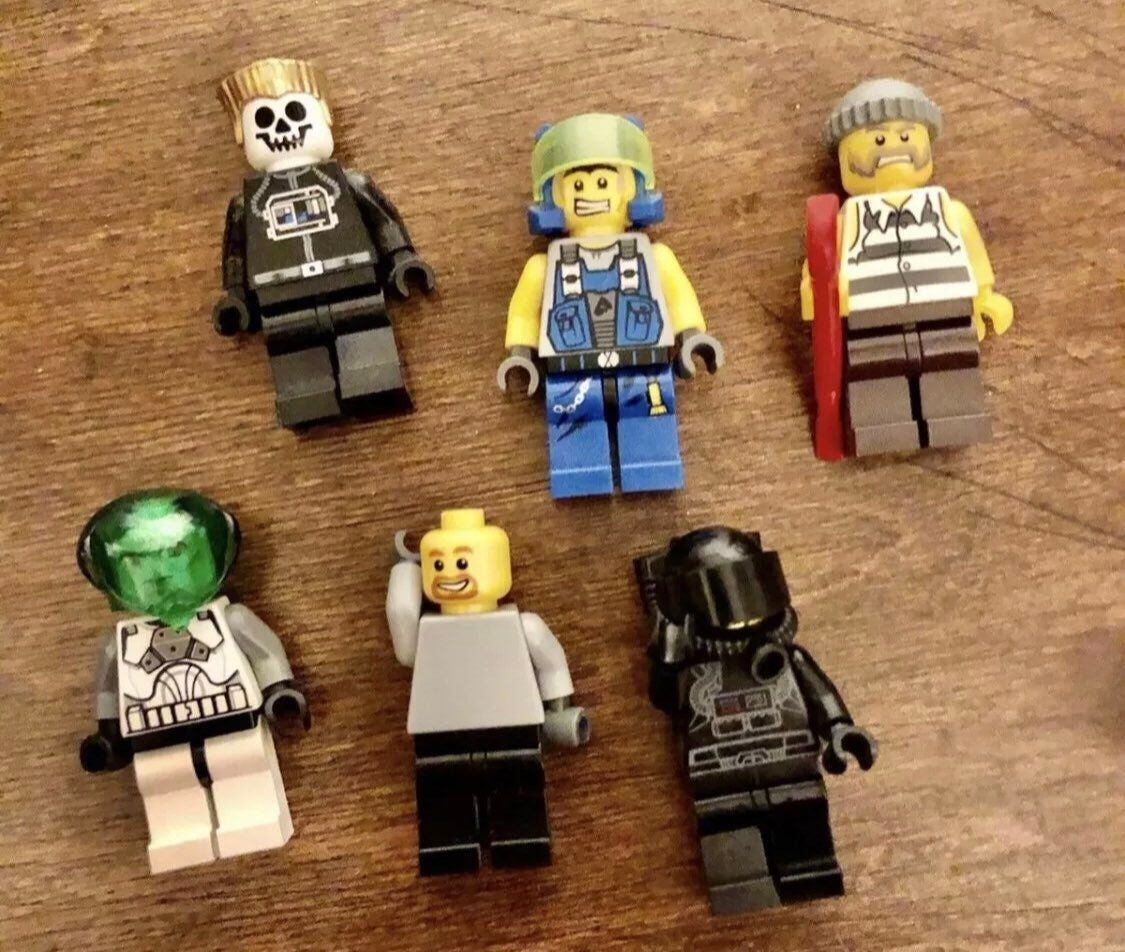 Lego minifigures mini figures lot x6
