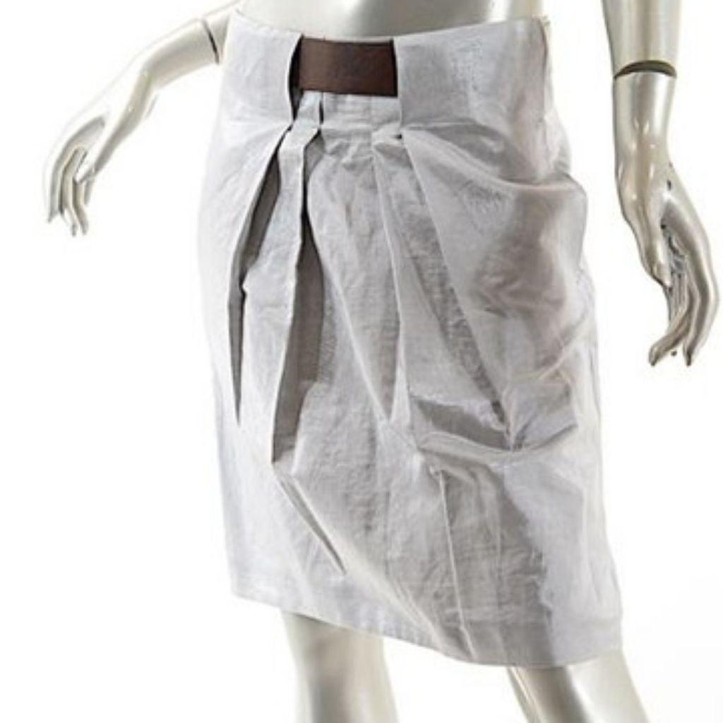 Gunex by Brunello Cucinelli silver skirt