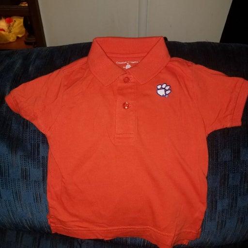 Clemson tiger polo shirt size18/24months