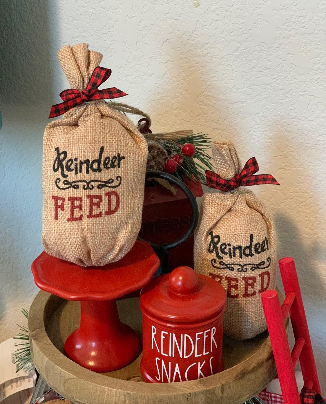 2 mini bags of reindeer feed