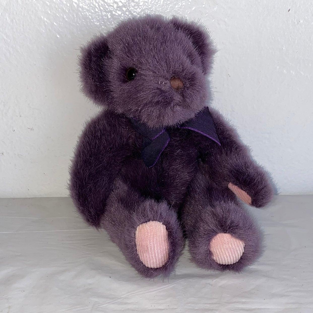 """Russ purple """"Teddy"""" bear"""