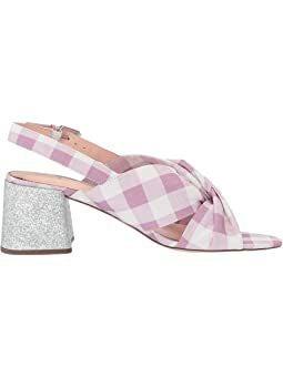 NEW J.Crew Gingham Sandal Glitter Heel