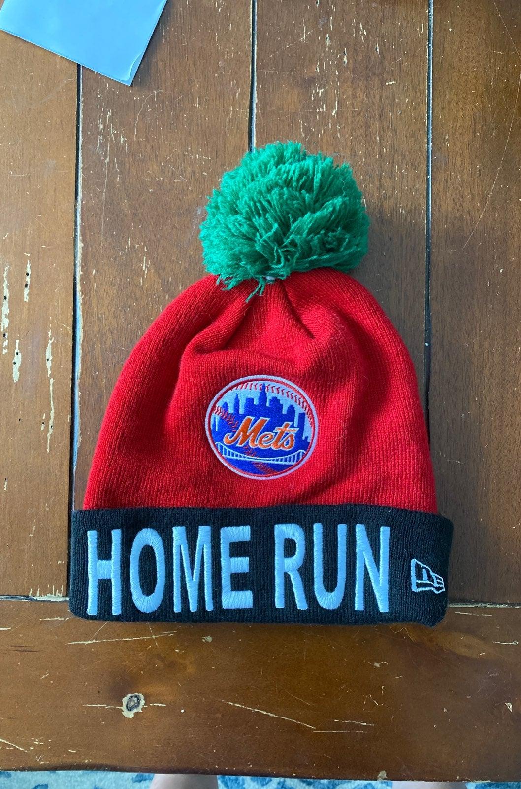 7 Line Mets Home Run Apple Beanie
