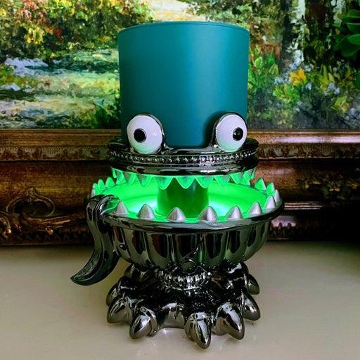 Illuminated Monster U 3-Wick Candle Holder