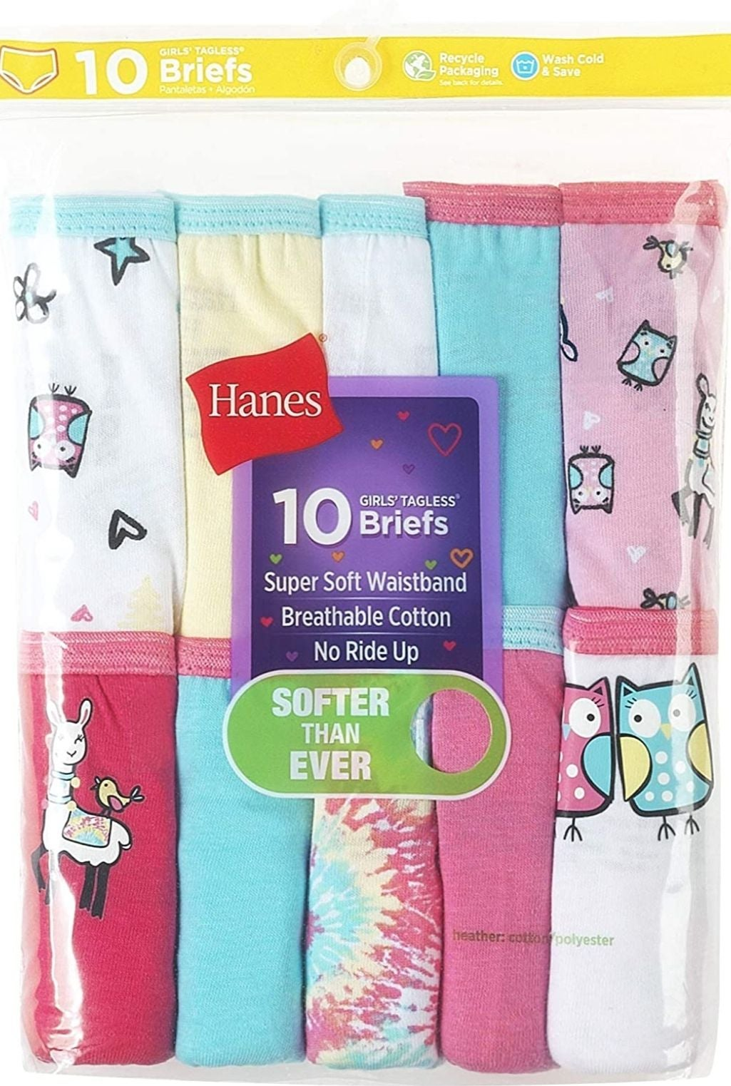 Girl's Brief Multipack, Assorted