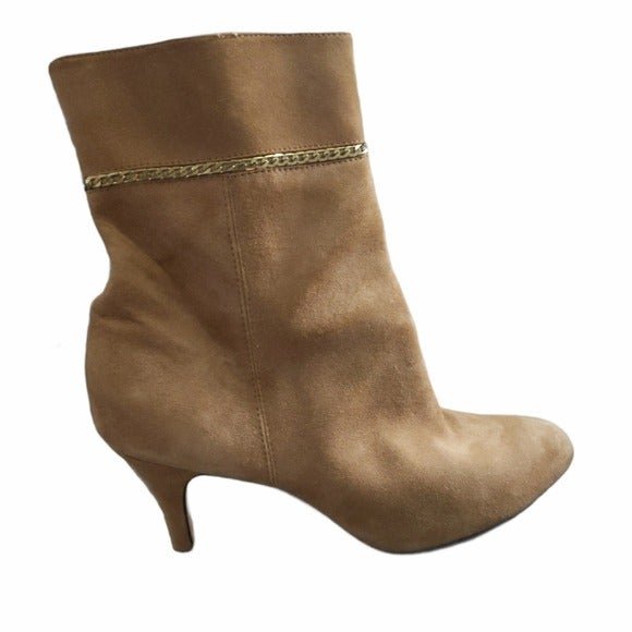 Taryn Rose Trelle Brown Suede Gold Chain