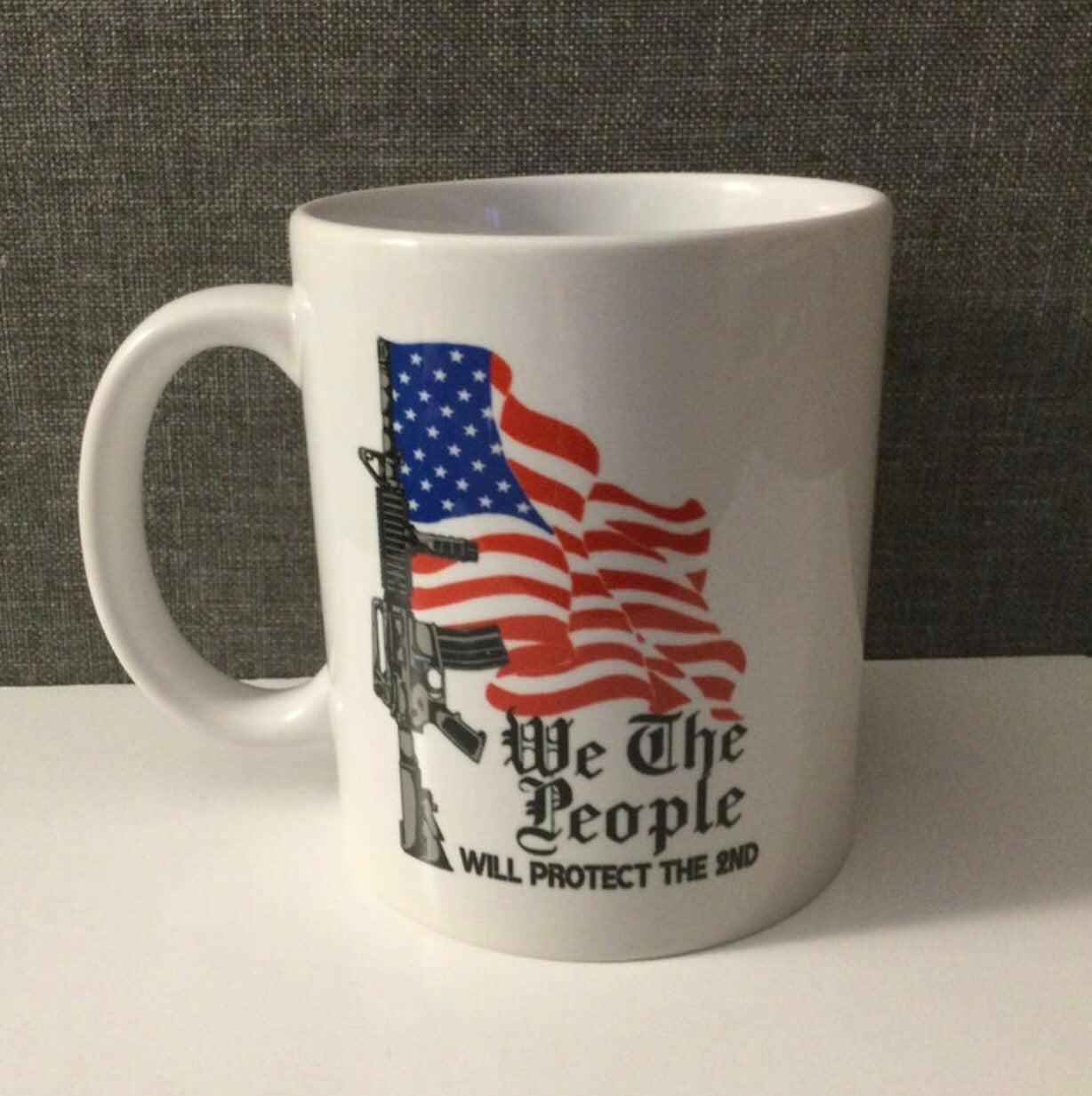 Handmade American Flag Coffee Mug
