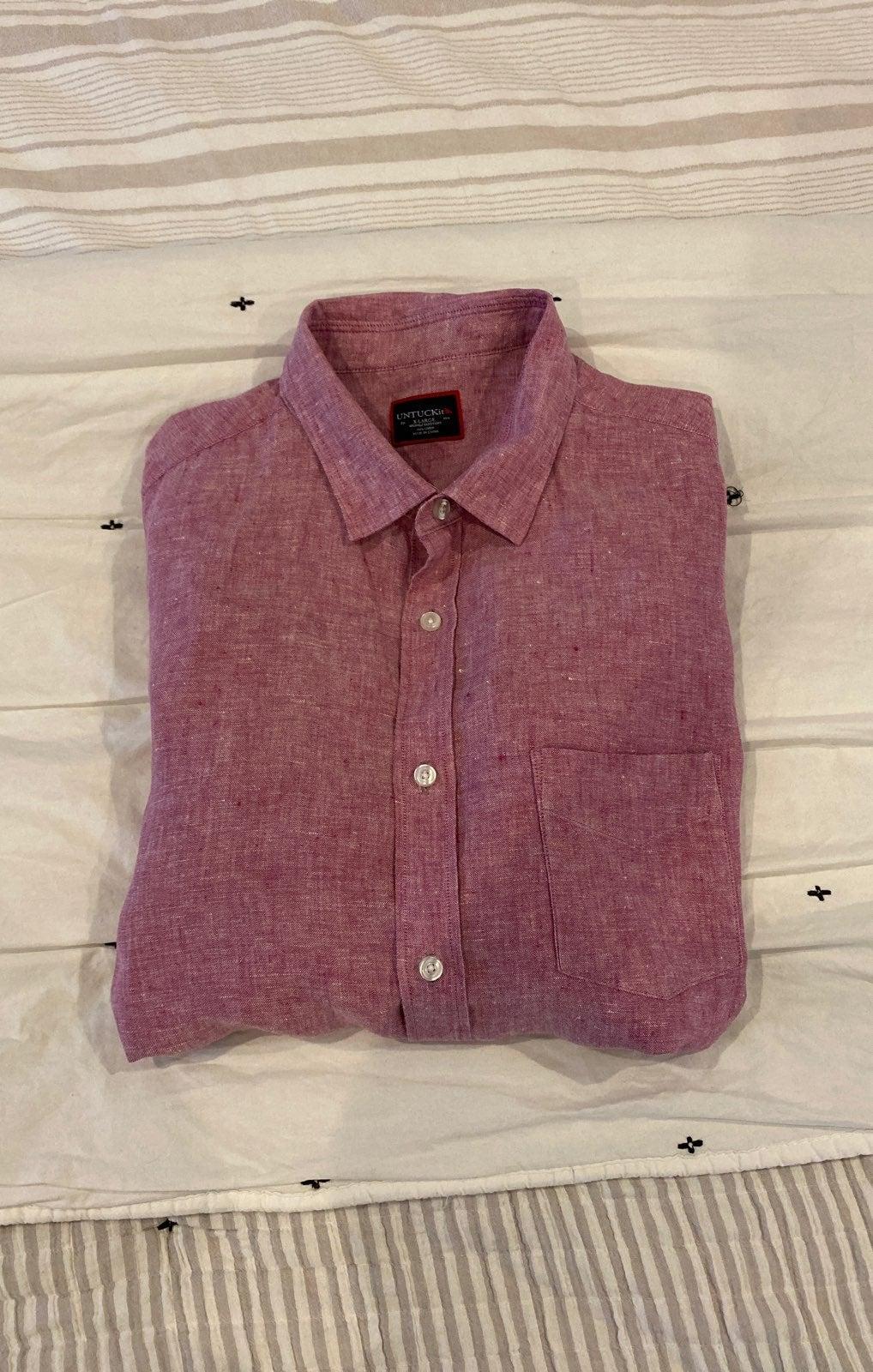 Untuck it mens linen shirt