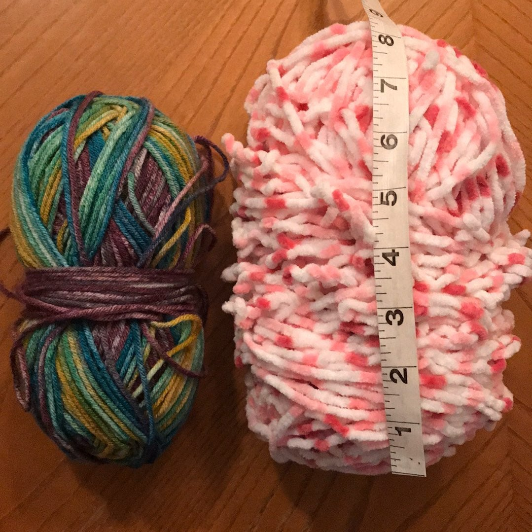 Yarn 2 bundles pink white and multicolor