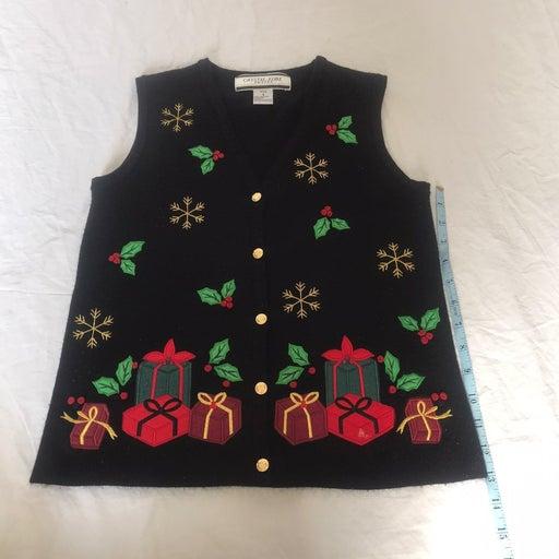 Ugly christmas vest  crystal kobe petite