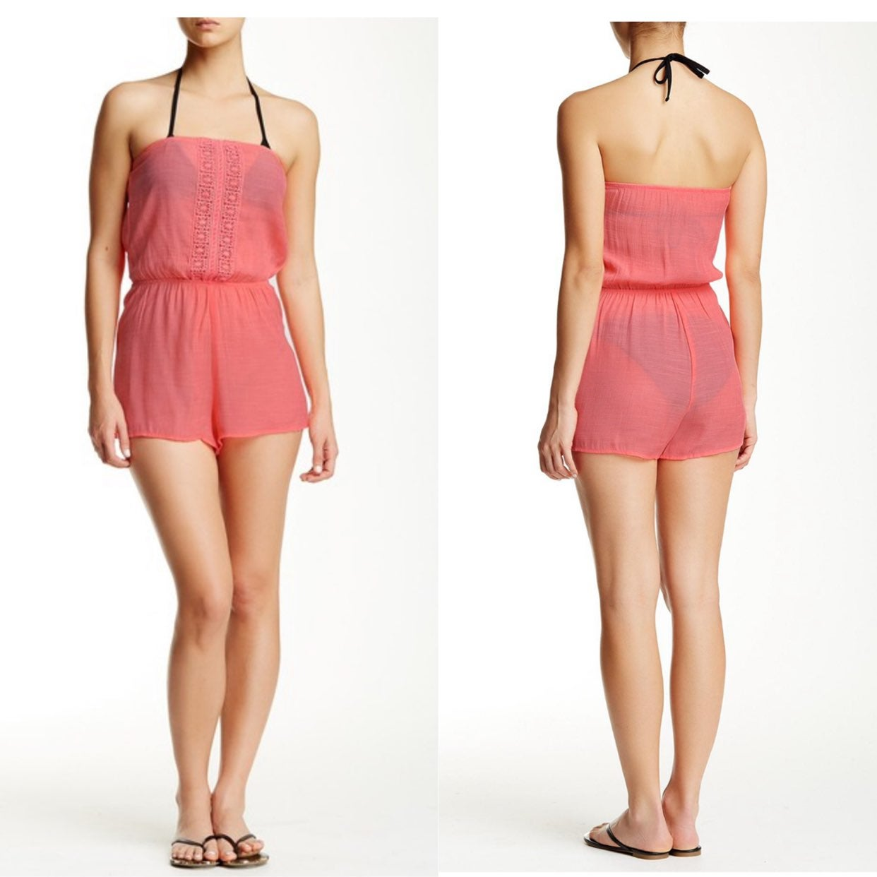 Laudry By SS Halter Romper Swim Cover Up