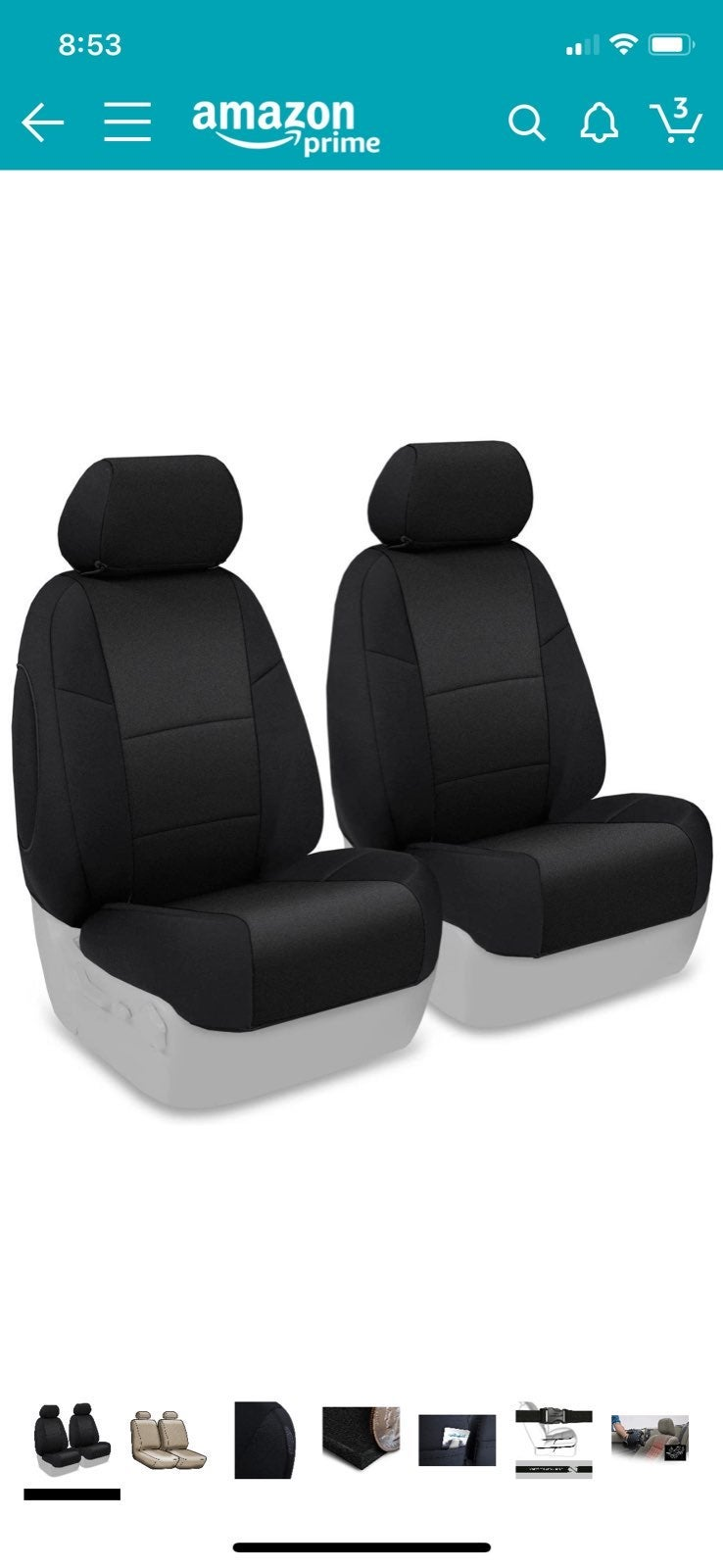 Coverking Custom Fit Front Bucket Seat C