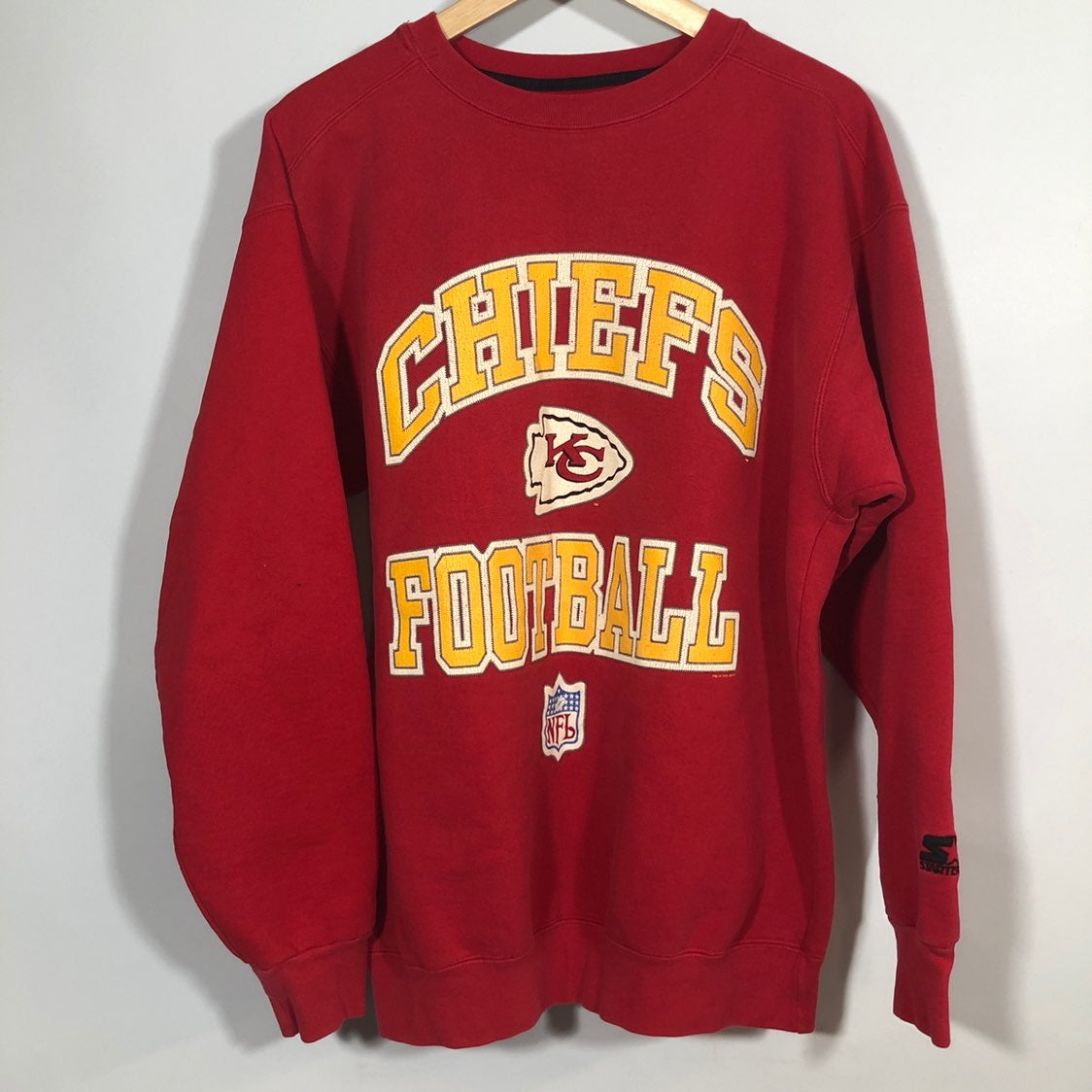 kansas city chiefs starter sweatshirt