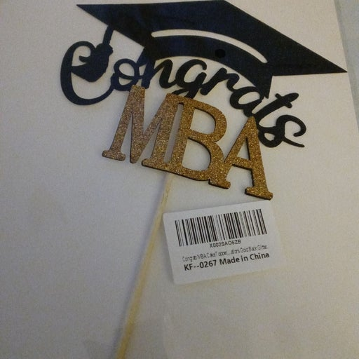New Congrats MBA cake topper