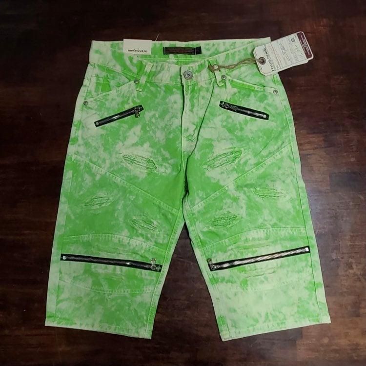 Sz 34 lime denim jean shorts