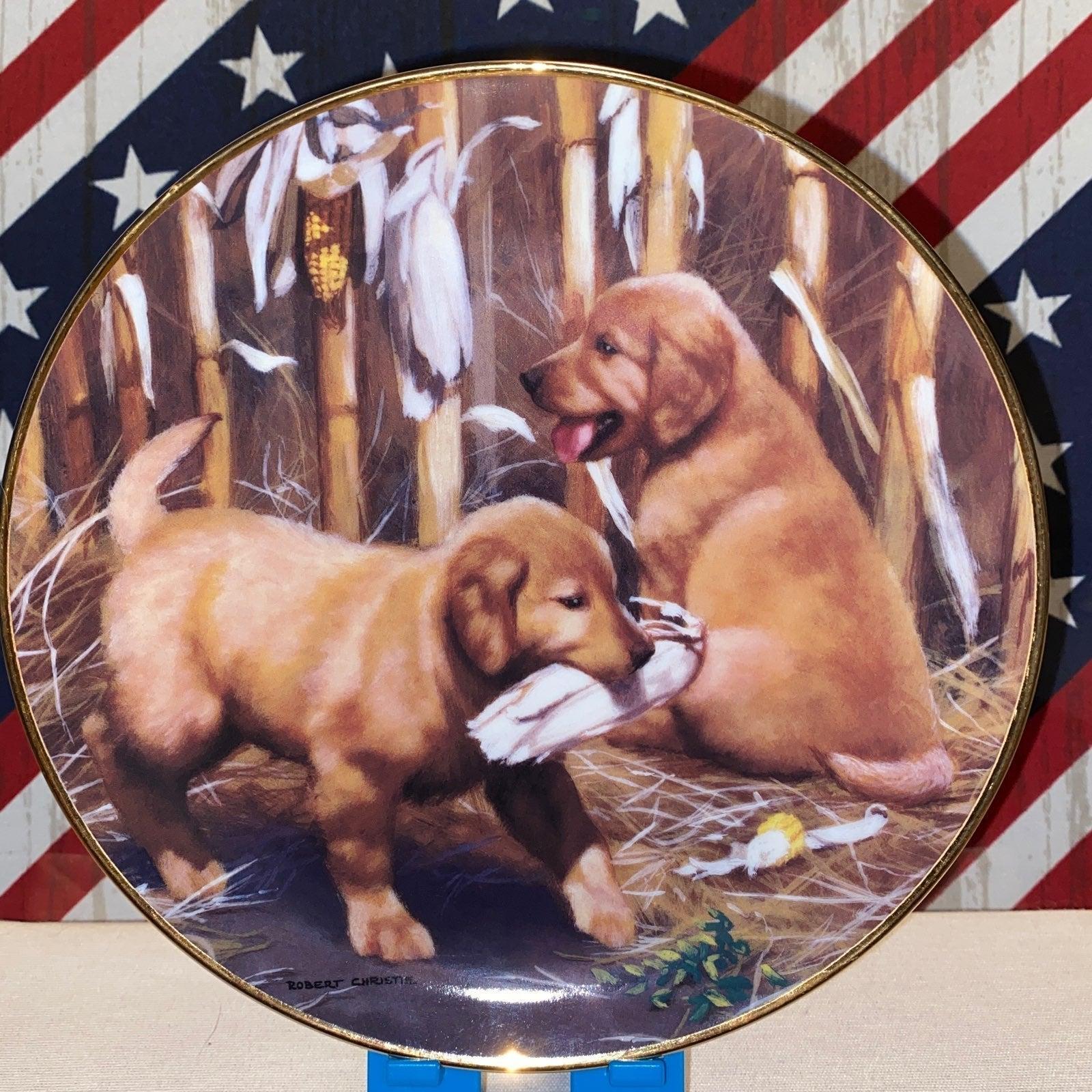 Golden Retriever Collectors Plate