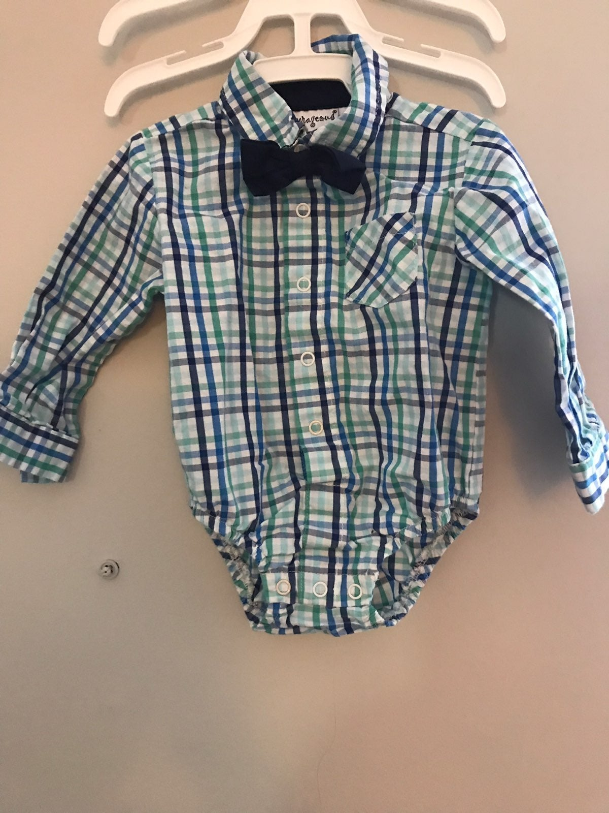 infant boy shirt with bow tie