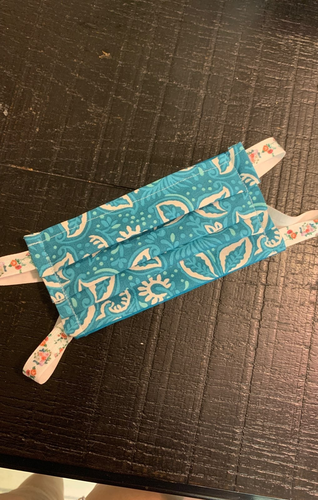 Homemade cloth facemask w/ filter pocket