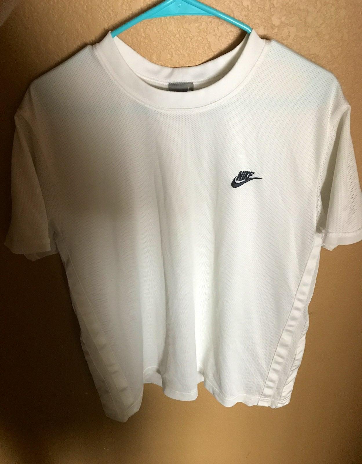 Vintage nike white perforated tshirt