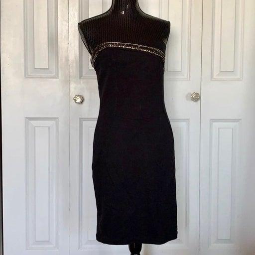 Boston Proper Strapless Embellish Dress