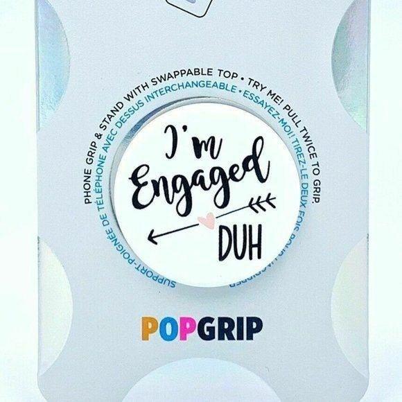 PopSockets Im Engaged Duh Love Couple