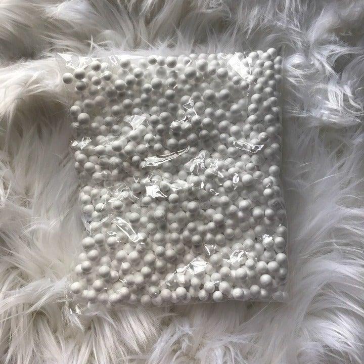 Large White Foam Beads
