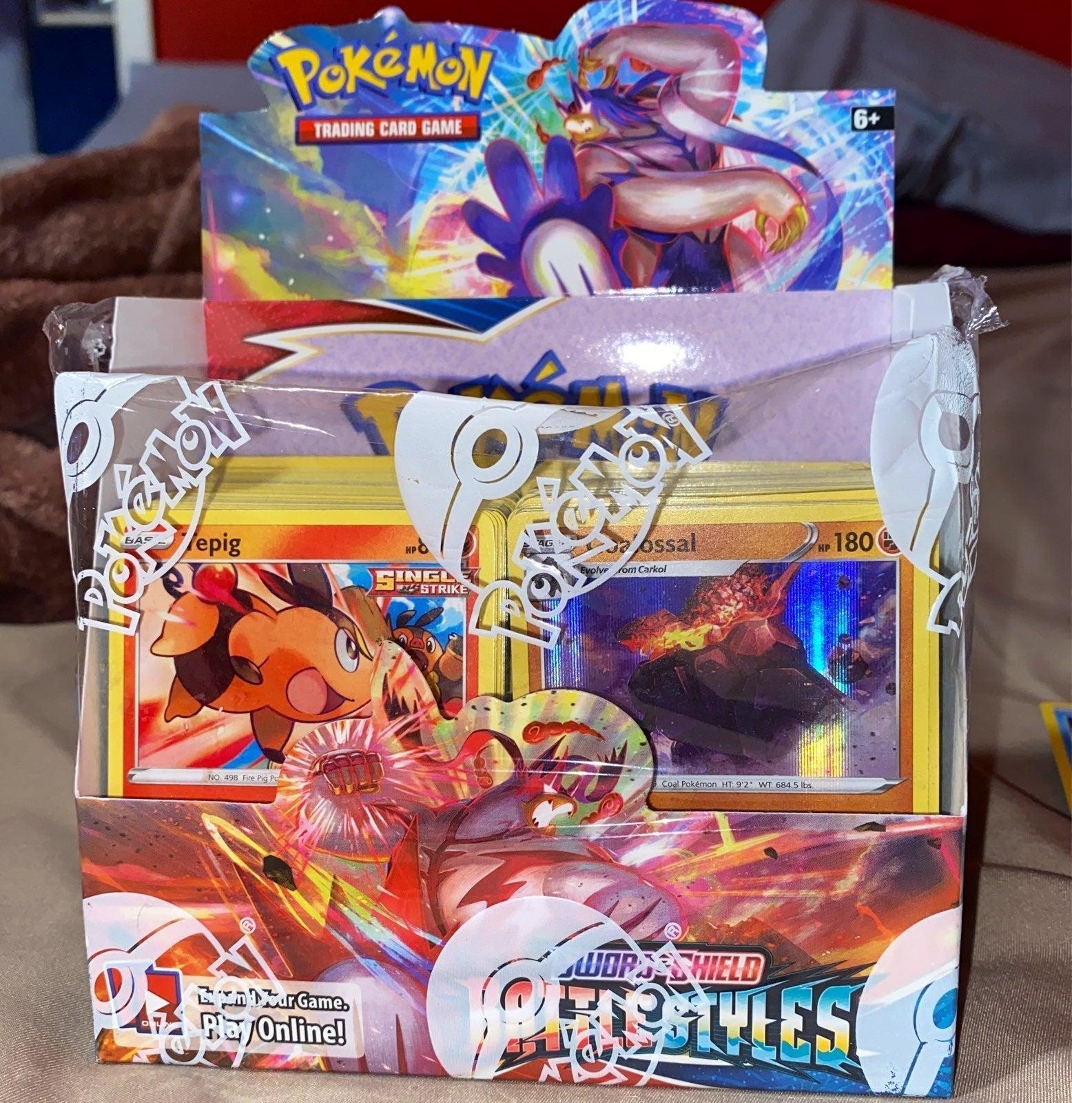 Pokemon Battle Styles booster box cards