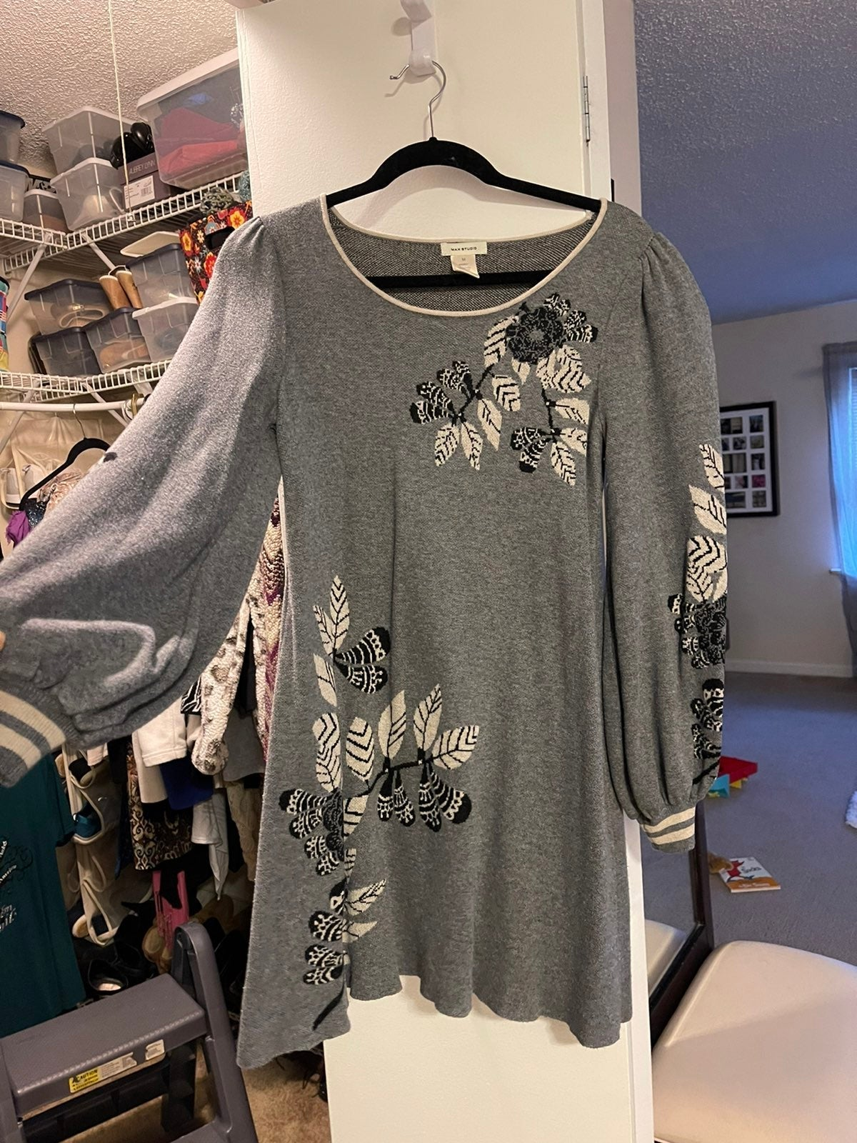 Max Studio Grey Sweater-dress size M