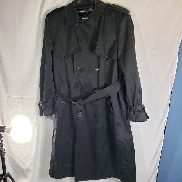 Misty Harbor Black Trench Coat Size 46 R