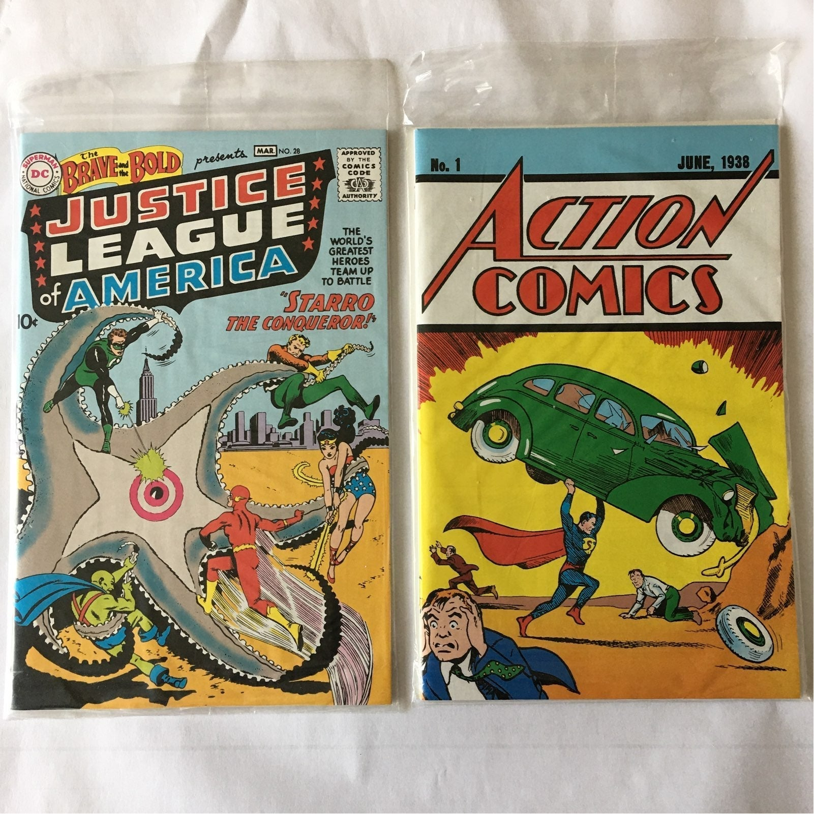 Action Comics 1 & Brave And The Bold 28