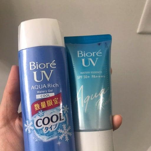 Biore uv water essence gel sunscreen duo
