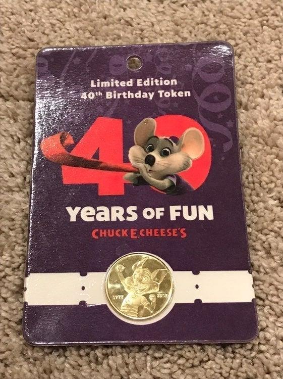 Chuck E Cheese 40th Birthday Token Coin