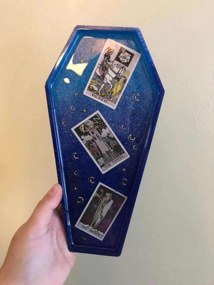 Large Coffin Tarot Card Tray