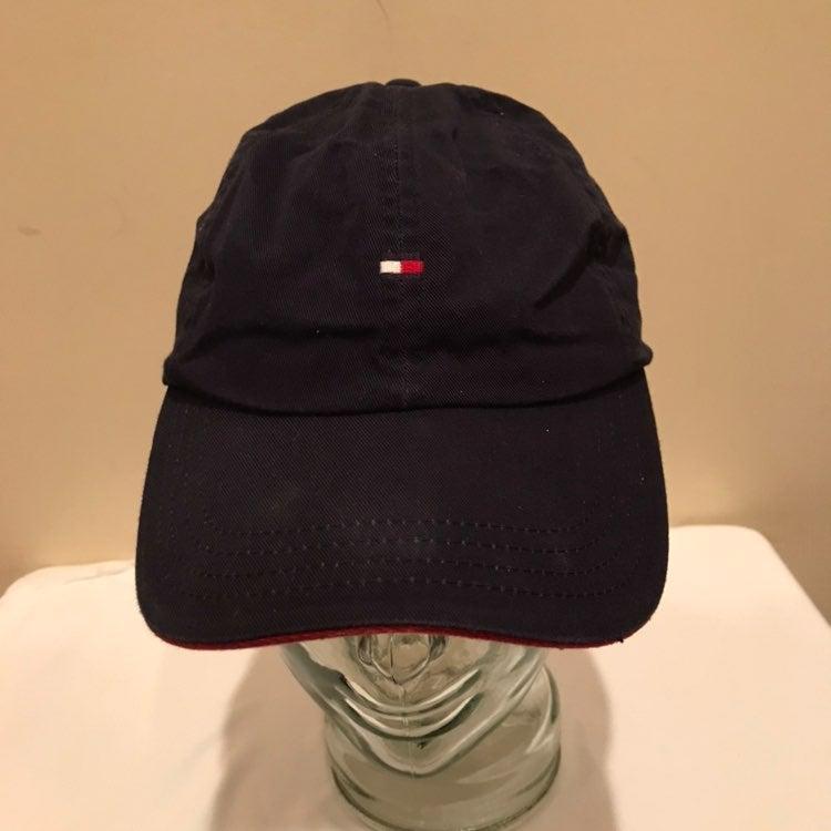 Vtg 90s Tommy Hilfiger Leather Strap Hat