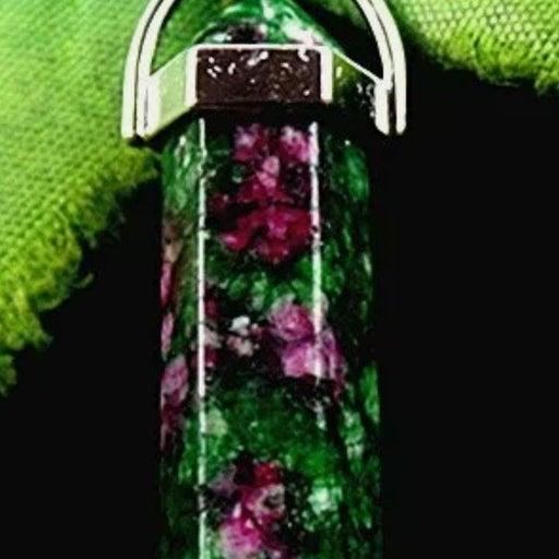 ruby in fuchsite pendant