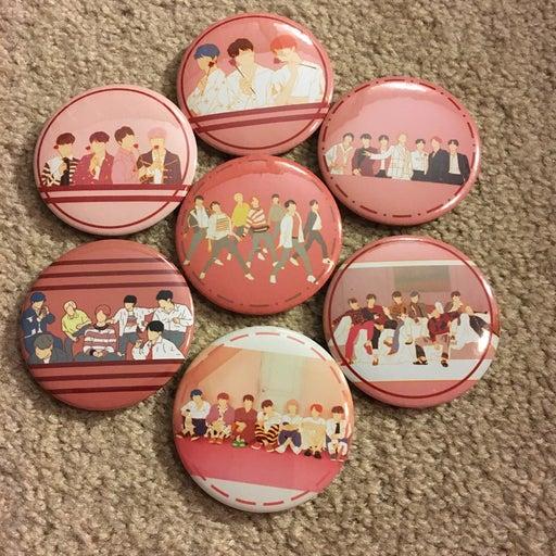 BTS Button Persona OT7 Set