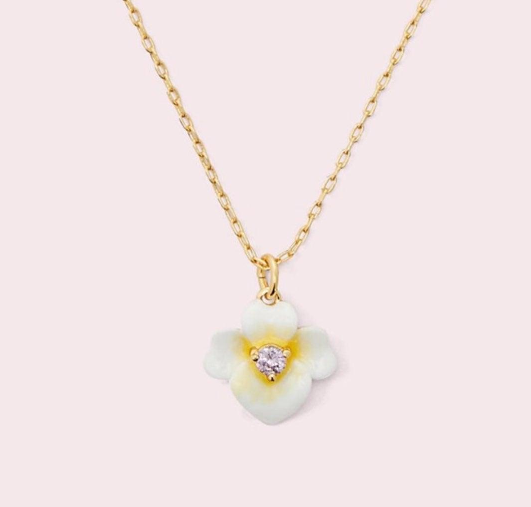 Kate Spade precious pansy mini pendant