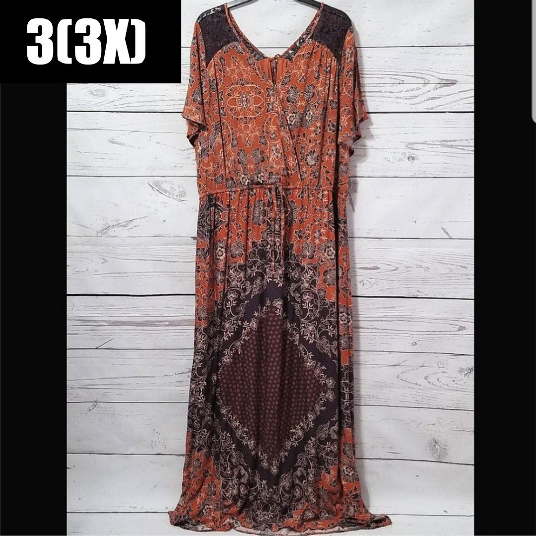 Maurices Boho Tapestry Print Maxi Dress