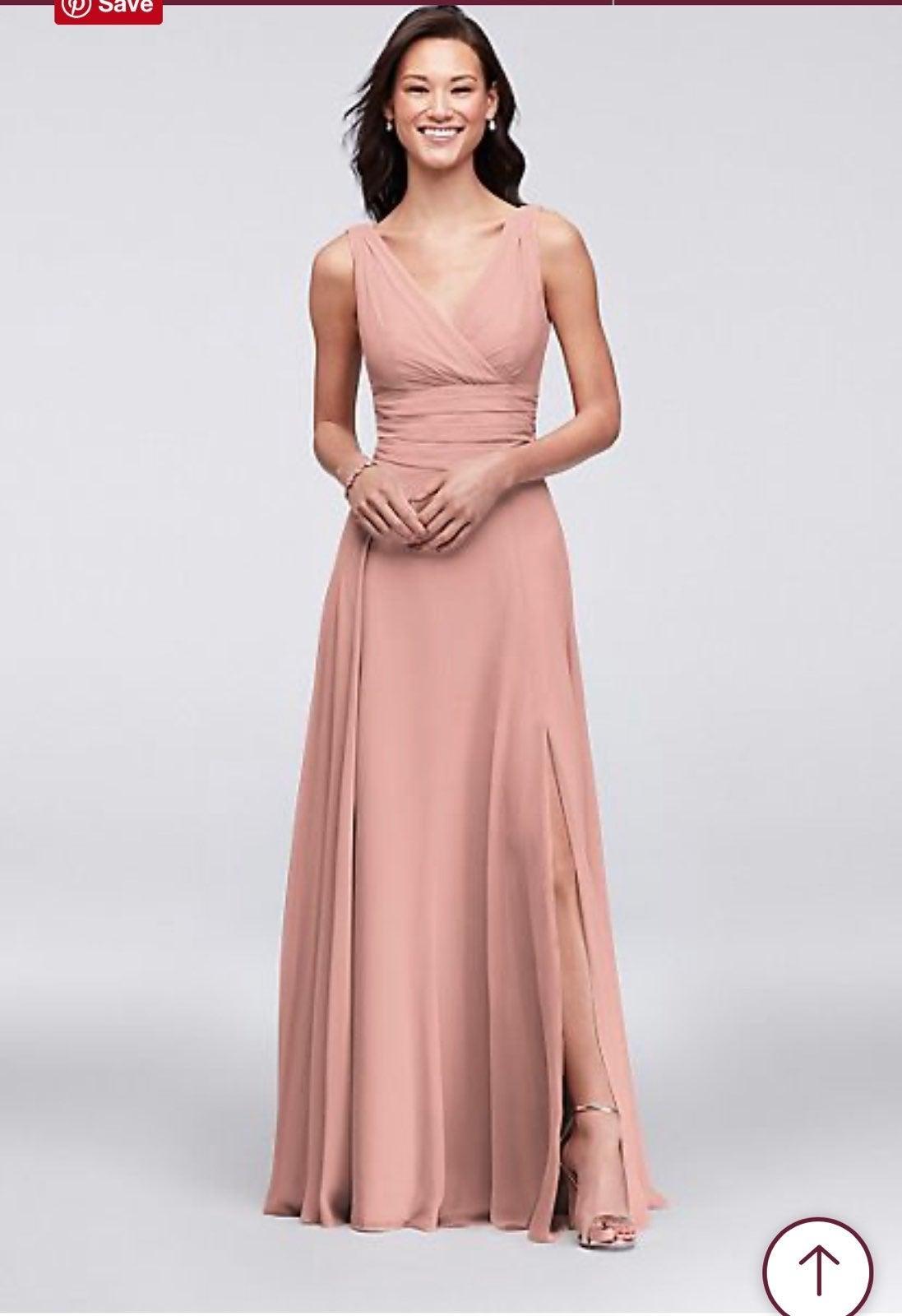 David's Bridal Surplice Bridesmaid Dress