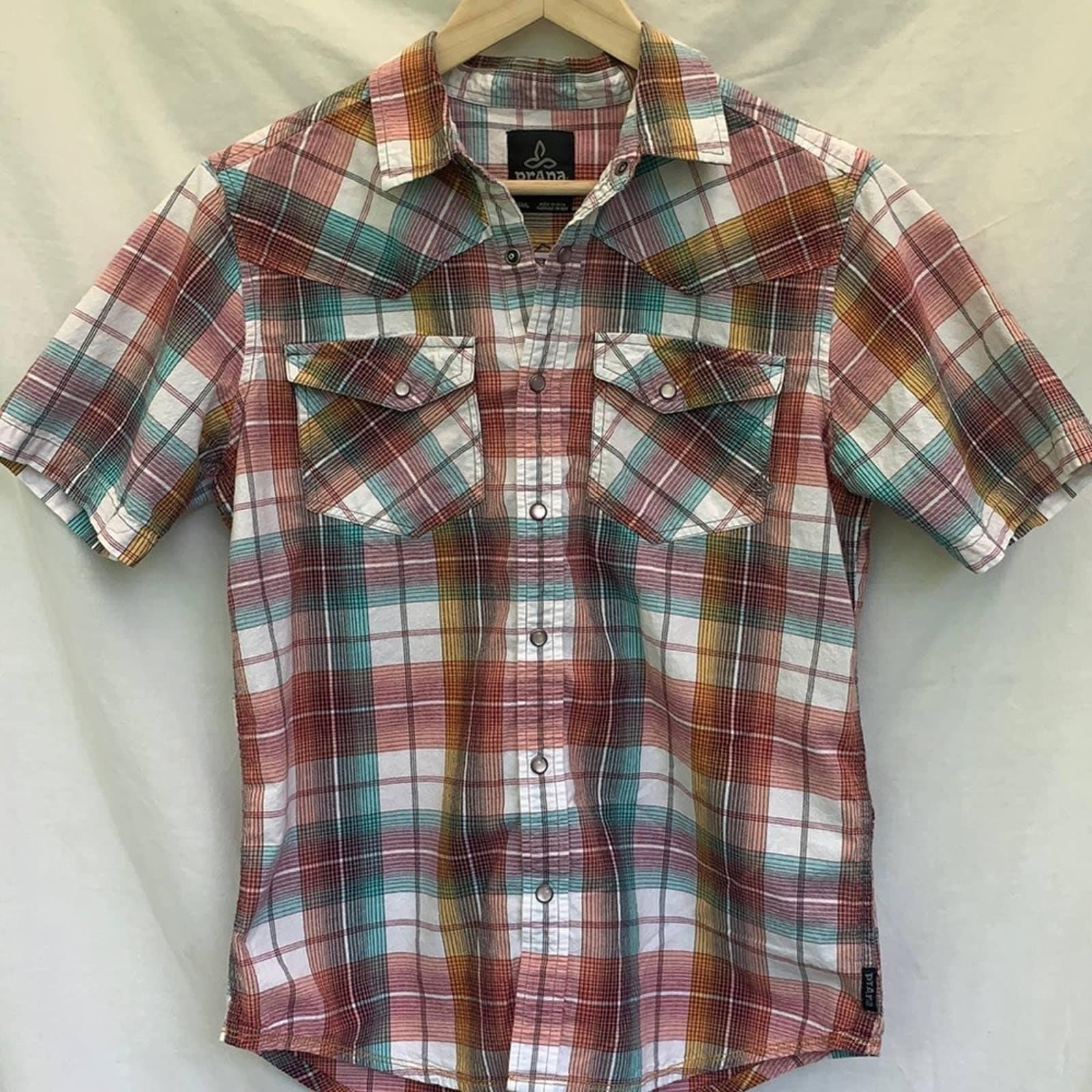 Prana - Western Style Plaid Shirt - S