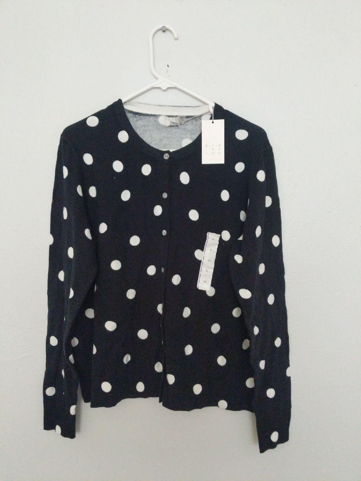 A New Day women's polka dot Cardigan