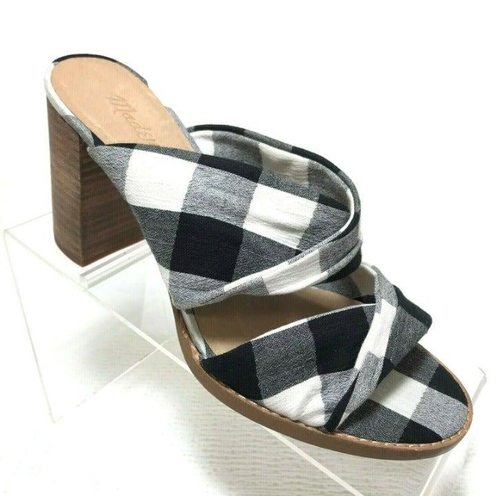 Madewell Alexandria Mule Gingham Sandals