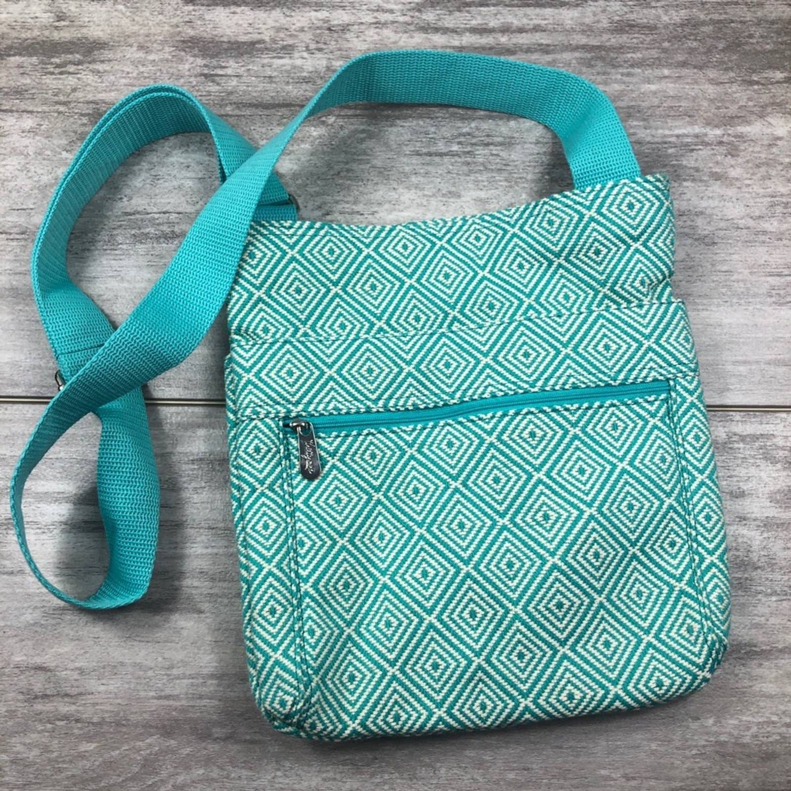 THIRTY-ONE blue and white crossbody bag